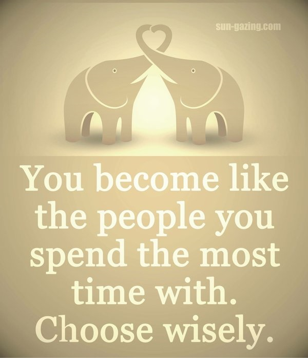You become