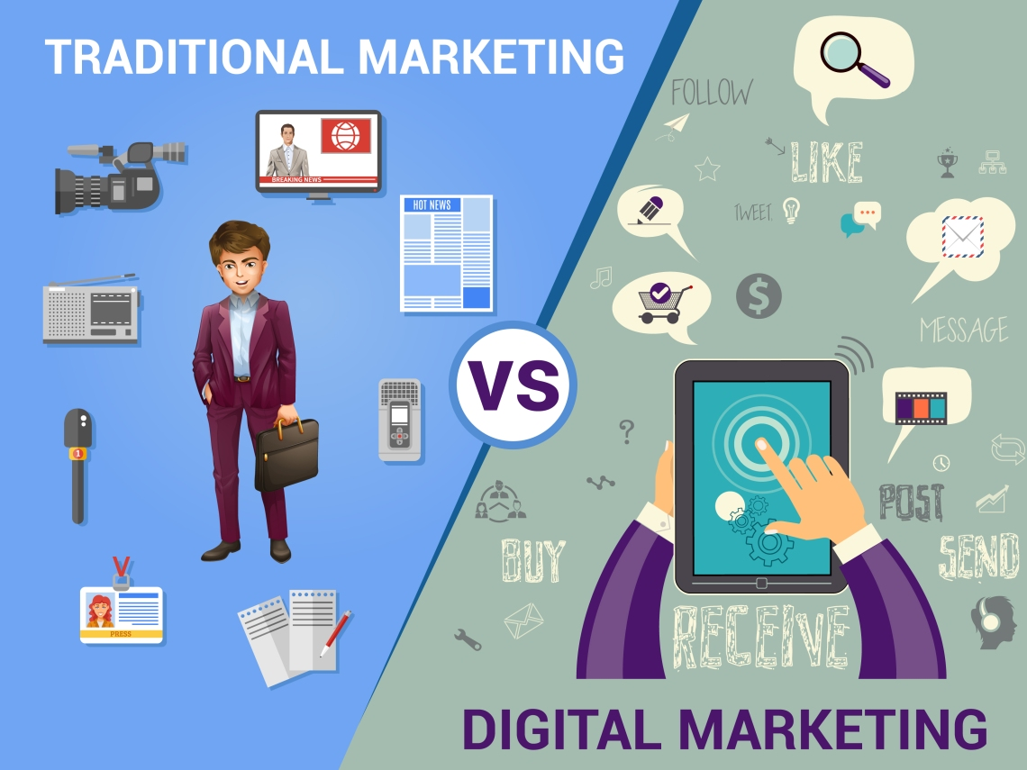 Traditional Market Vs Digital Market