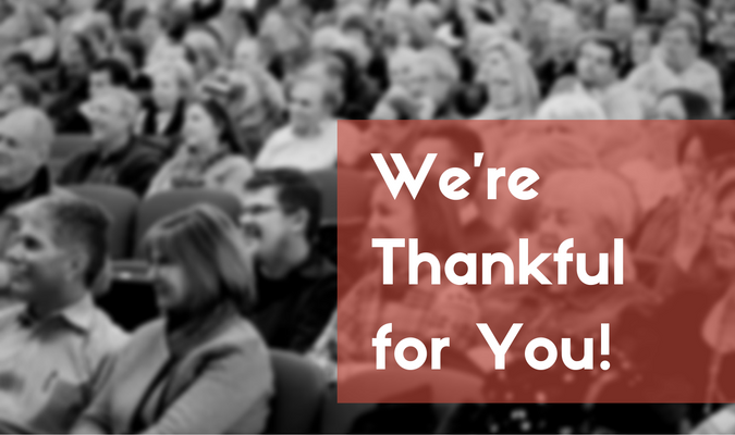 We are thankful for people like YOU2